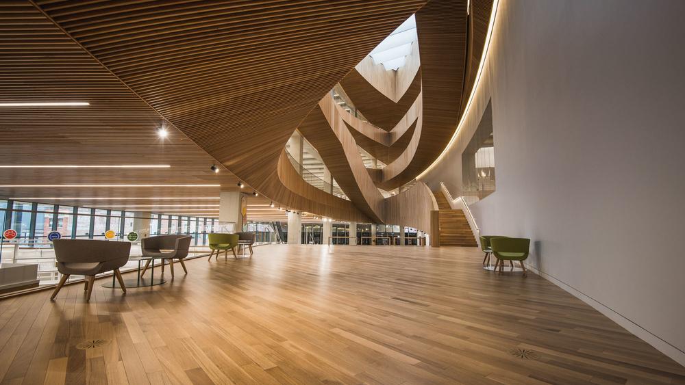 Calgary Alberta Library Wood Nydree 3